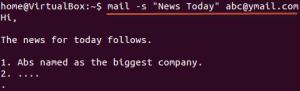 نحوه ارسال ایمیل در لینوکس