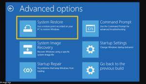 رفع خرابی ویندوز با System Restore