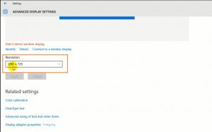 تنظیم نمایشگر ویندوز (پیشرفته)