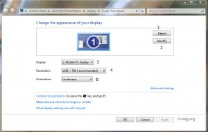 تنظیم نمایشگر ویندوز 7