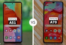 مقایسه A51 با A70