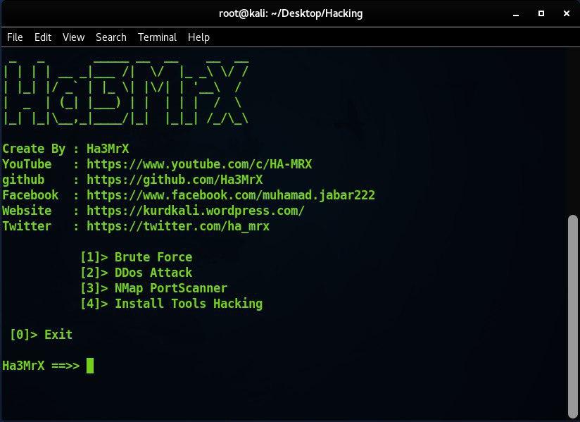 ابزار تست نفوذ Ha3MrX