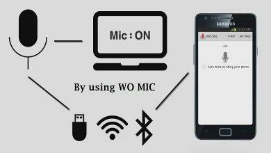 تصویر از آموزش تبدیل گوشی به میکروفن کامپیوتر