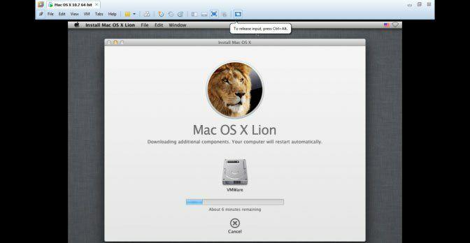 نصب Mac OS X را بر روی VMware آغاز کنید. این کار 15 الی 30 دقیقه زمان می برد. اکنون شما میدانید که چگونه این سیستم عامل را به وسیله VMWare بر روی ویندوز نصب کنید.