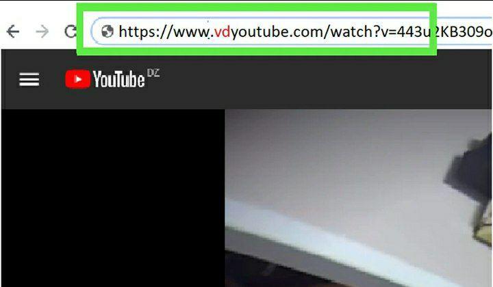 ادرس vd پشت اسم یوتیوب وارد کنید