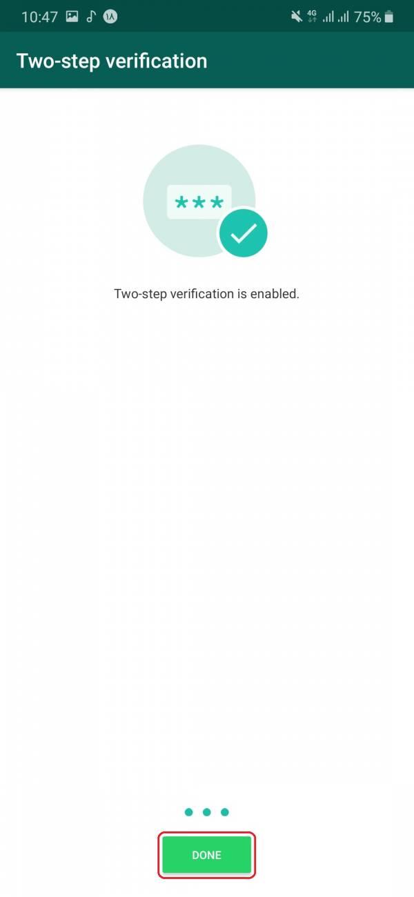 9- تبریک! حساب شما ایمن شد و می توانید با خیالی راحت از حساب کاربری خود استفاده کنید.